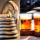 дъмбели и бира